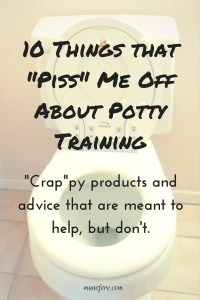Humorous review of annoying advice and products for potty training. potty training humor, parenting humor
