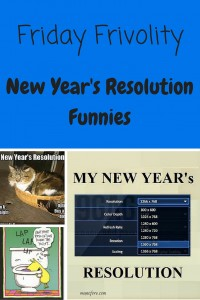 Friday Frivolity - New Year's Resolution Funnies