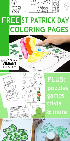 Free St Patrick's Day coloring pages and printables