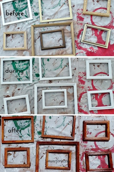picture frame redo (before during and after