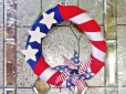 Patriotic Wreath - Festive and frugal wreath for Memorial Day, Flag Day and Independence Day.