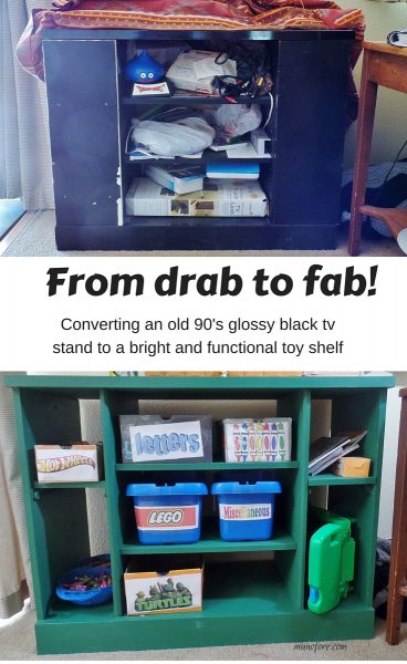tv stand makeover pin