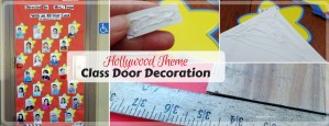 Hollywood Themed Classroom Door Decoration for Boosterthon Fun Run. Movie theme door decoration.