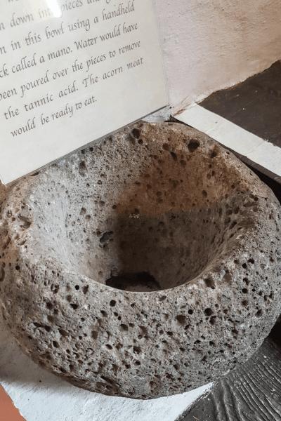 mission san diego acorn grinding stone
