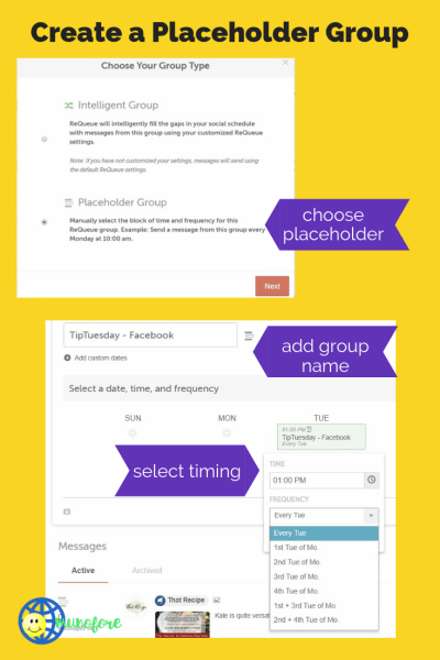 steps to creating a placeholder group