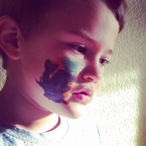 self drawn face paint