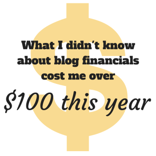 What I didn't know about Blog Financials Cost Me $100