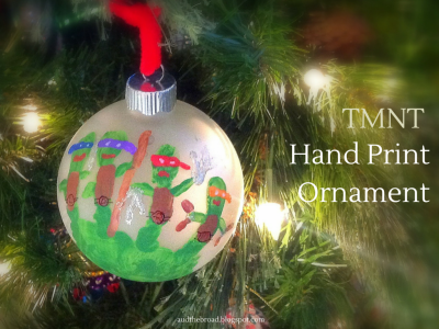Ninja Turtle Handprint Ornaments