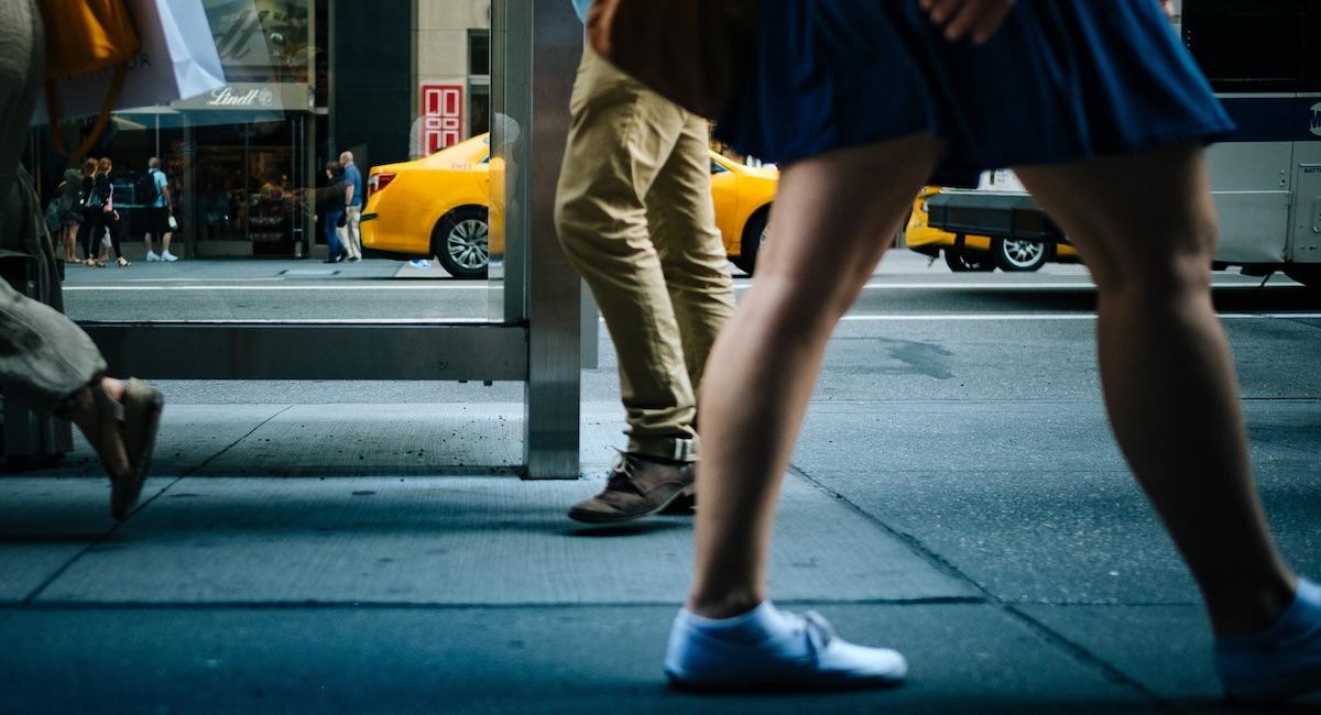 Personas caminando en Nueva York