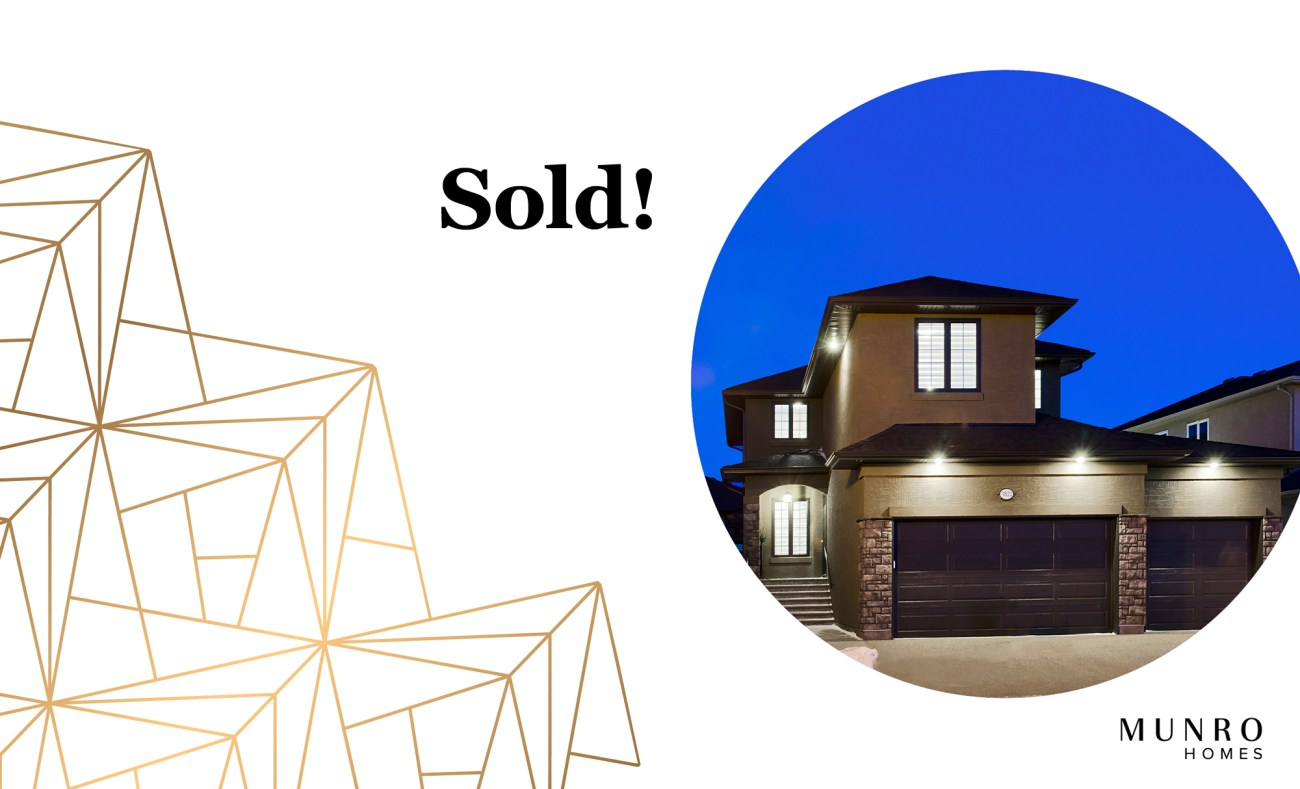 Munro Homes new show home is now sold!
