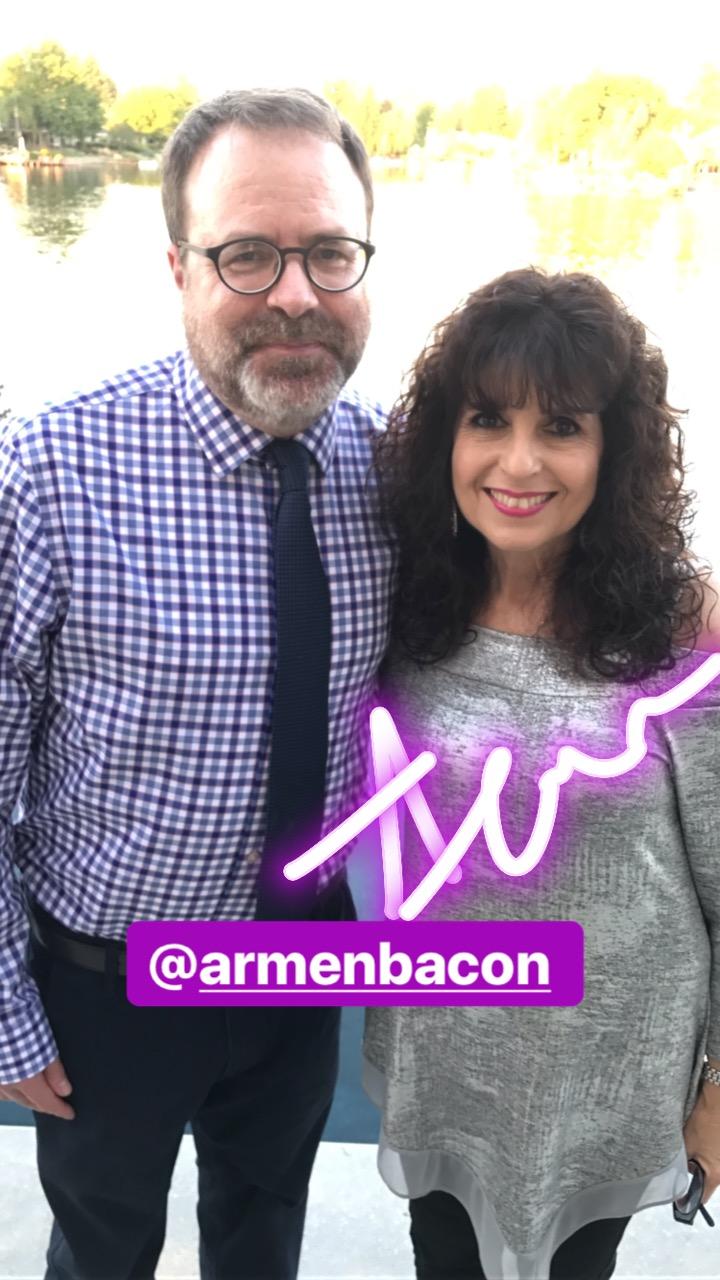 Summer Arts kickoff party: Armen Bacon, big-time Summer Arts fan.