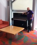 Guest conductor suite: Thomas Loewenheim checks out his swanky digs. Photo / The Munro Review