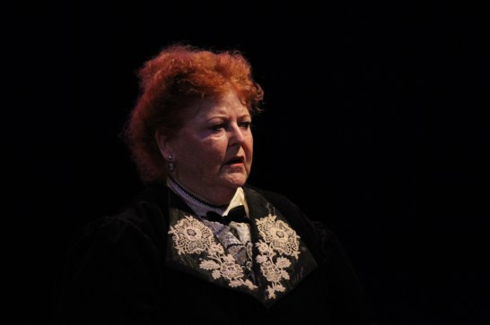 A suspect: Karan Johnson as Lady Agatha in 'Hound of the Baskervilles.' Photo / Good Company Players