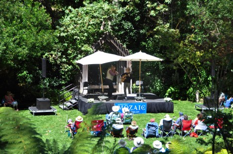 Lush venue: Fire & Grace performs at See Canyon Fruit Ranch.
