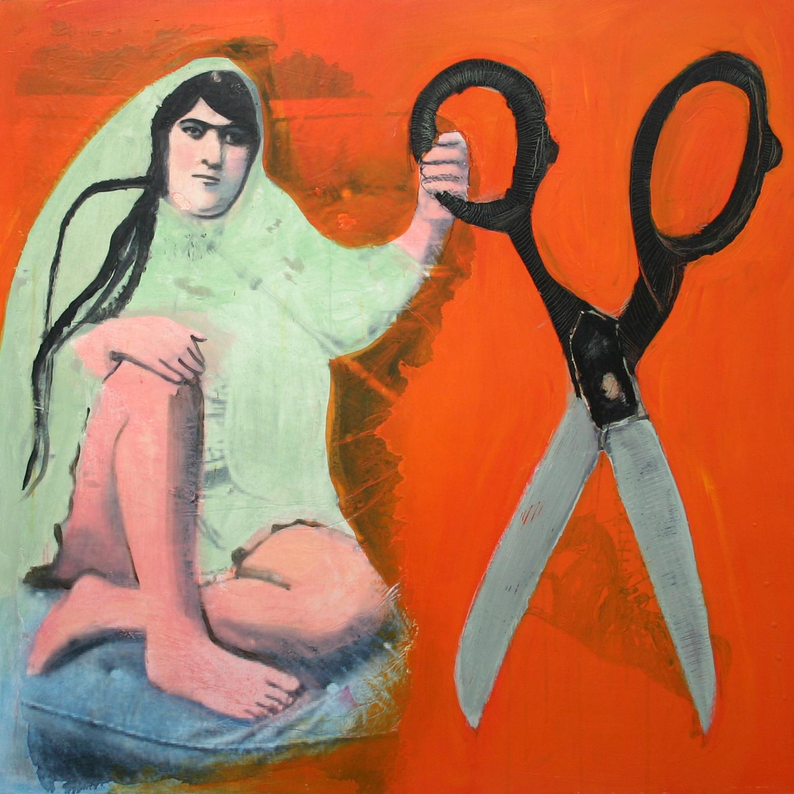 5-Lady and the scissors Orange