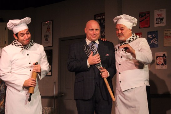 "Pastry chefs? Nicholas Nunez, left, Jeff Lusk and Greg Ruud in ""The Drowy Chaperone."" Photos / Good Company Players"