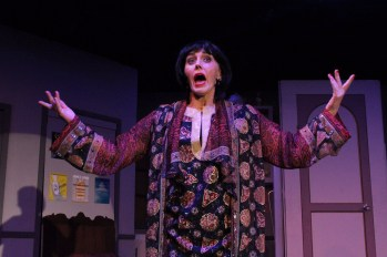 """She'll drink to that: Rebecca Sarkisian as the title character in """"The Drowsy Chaperone."""" Photo / Good Company Players"""