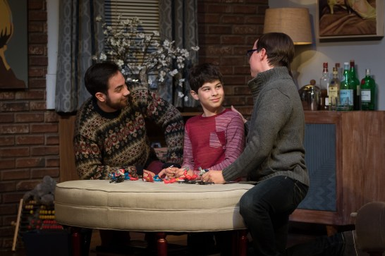 "Family unit: Will, Bud (Ari Jimesanagnos) and Cal in ""Mothers and Sons."""