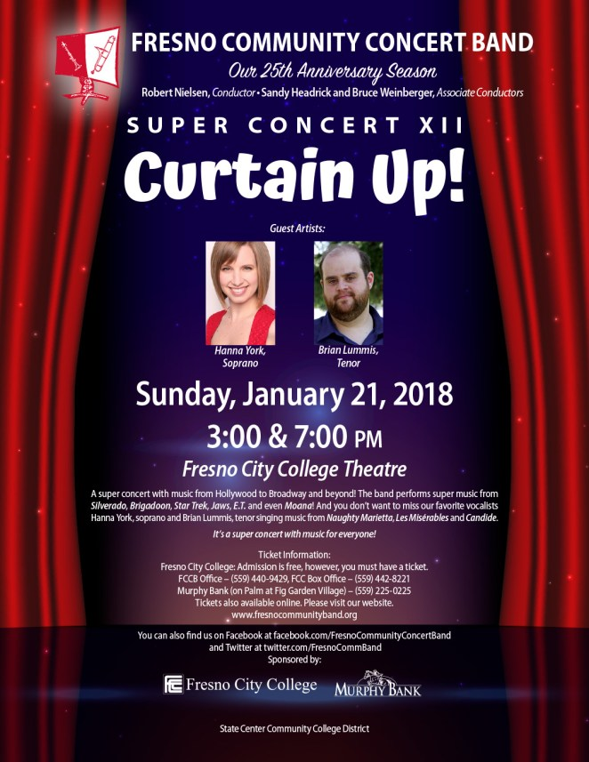 Super Concert XII - Curtain Up Flyer