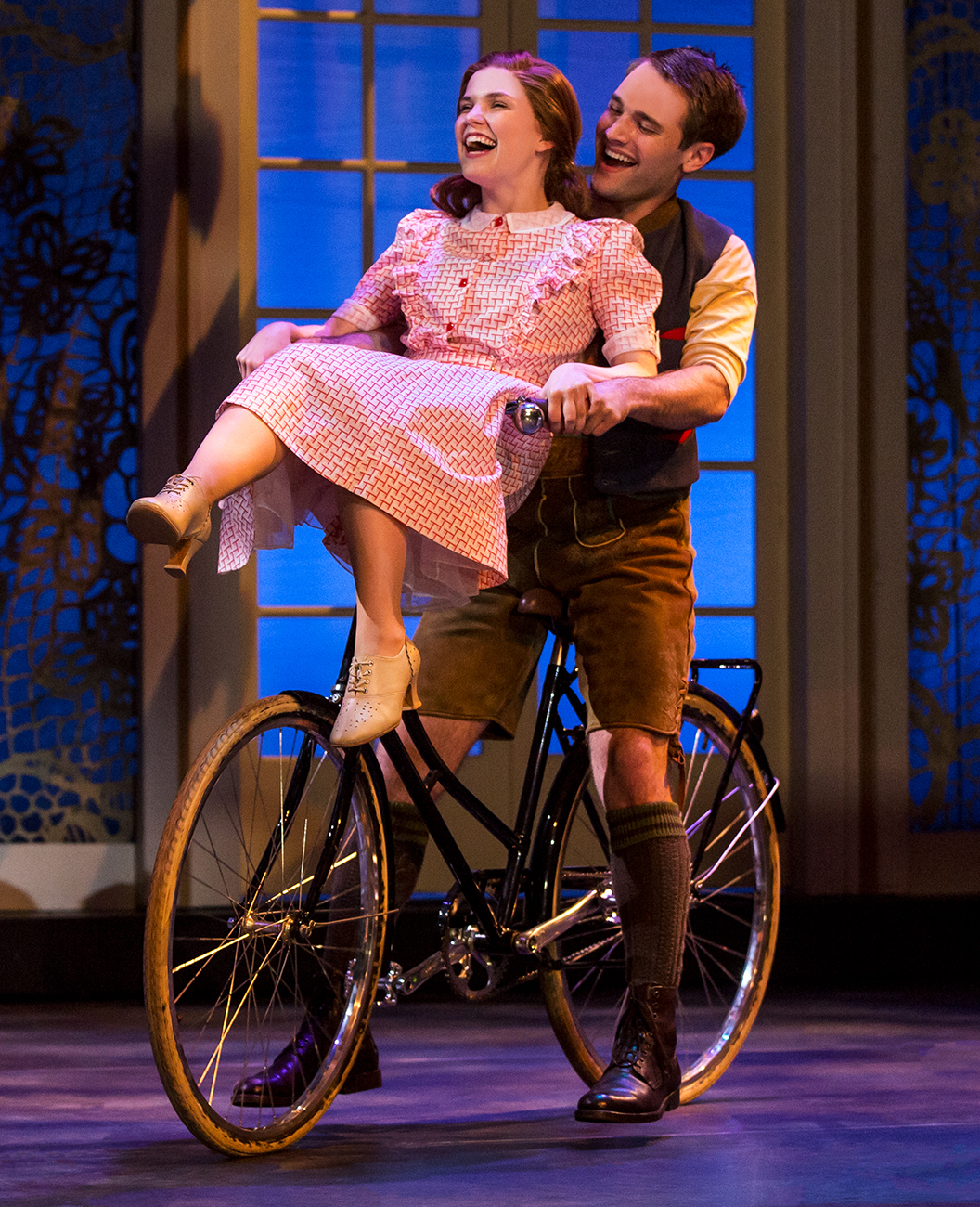 Keslie Ward as Liesl and Chad P. Campbell as Rolf. Photo by Matthew Murphy