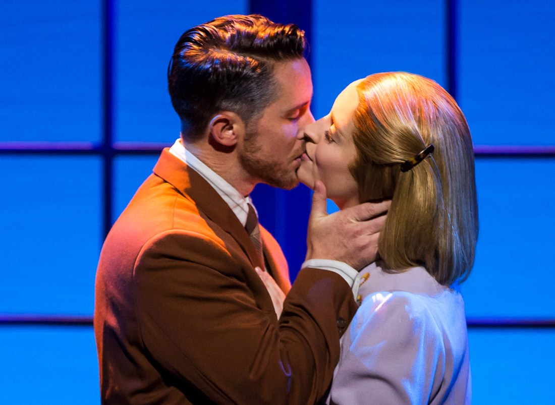 Mike McLean as Captain von Trapp and Jill-Christine Wiley as Maria. Photo by Matthew Murphy