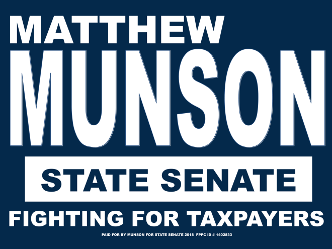 campaign sign for 2018