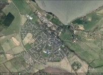 Tain, Scotland aerial. From Google Earth.