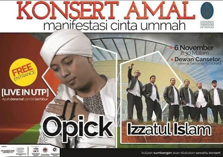 Opick dan Izzatul Islam di Konsert Amal, UTP, Perak