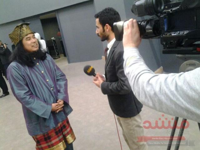 Daqmie ditemuramah wartawan.