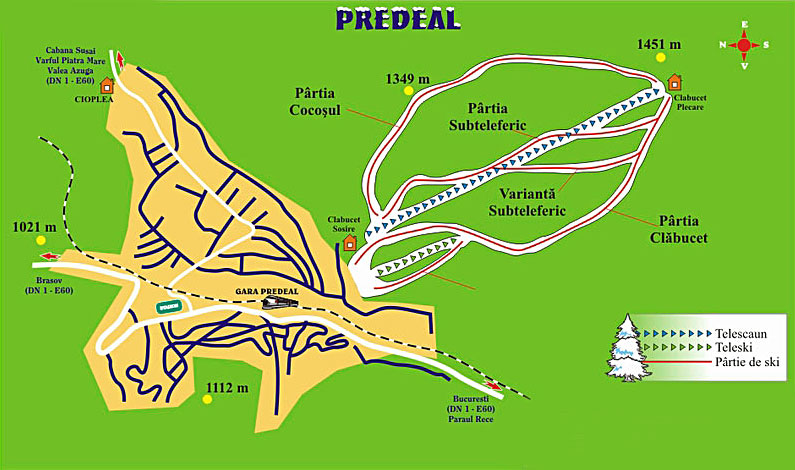 Partii de schi din Predeal