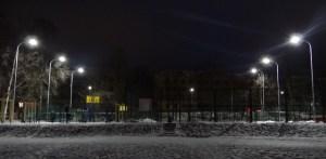 Подключили освещение к спортивной площадке на Гюллинга