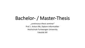 Thesis-Seminar