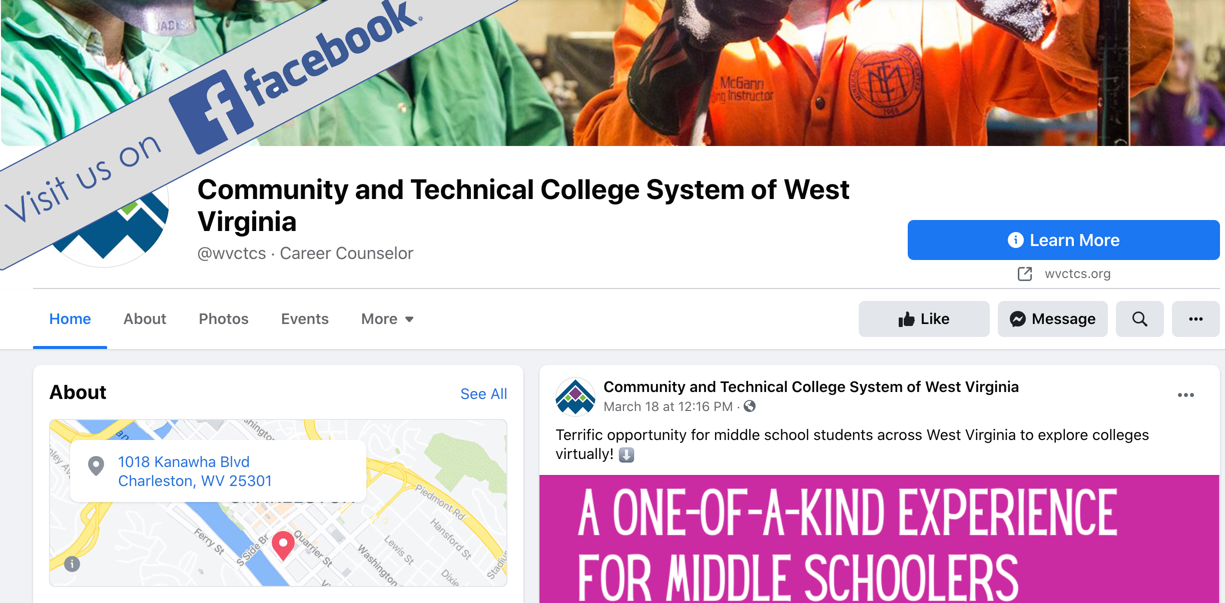 WV Community and Technical College System Facebook screenshot