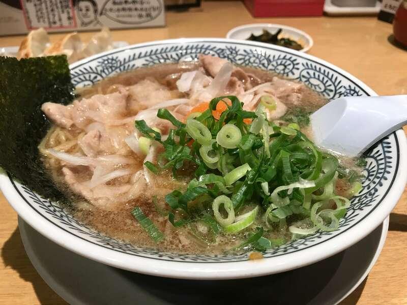 丸源ラーメン浜松住吉店の肉そば