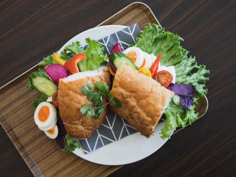 ラビットカフェのサンドイッチ