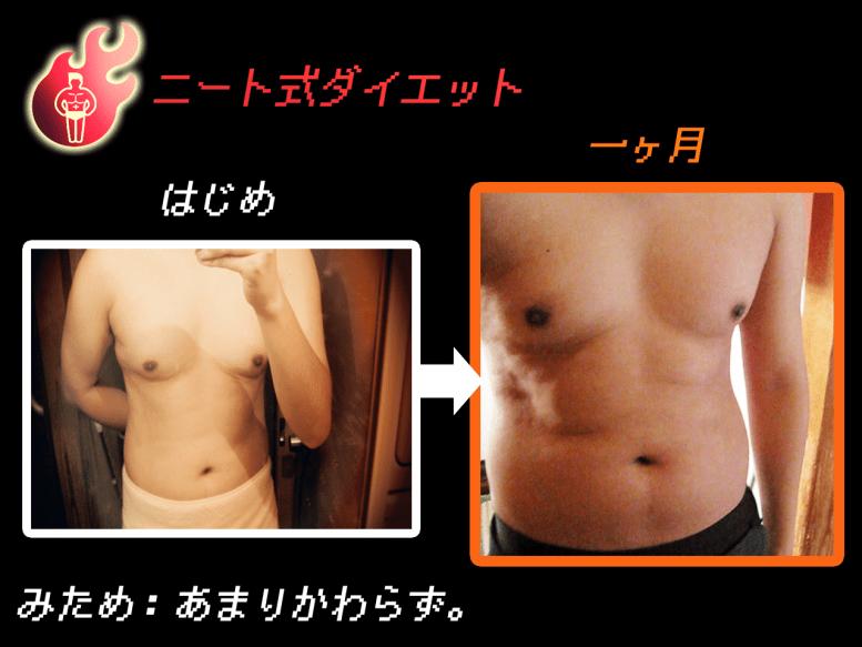ニート式ダイエット経過図