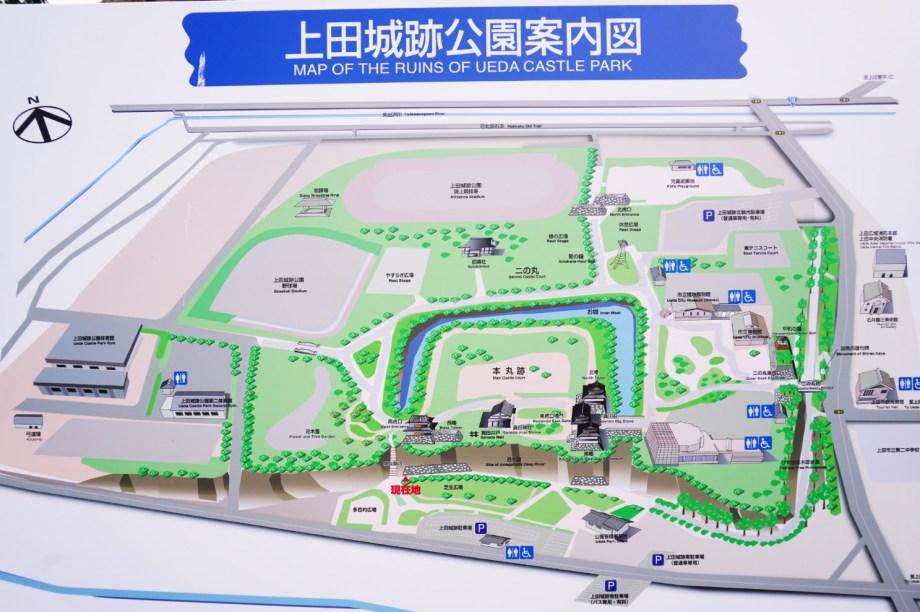上田城地図