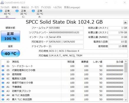 SSDの発熱比較