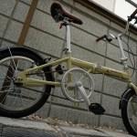 キャプテンスタッグの折りたたみ自転車(16インチ)のレビューと20インチとの比較
