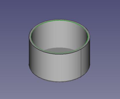 選択された立体の内側の円周