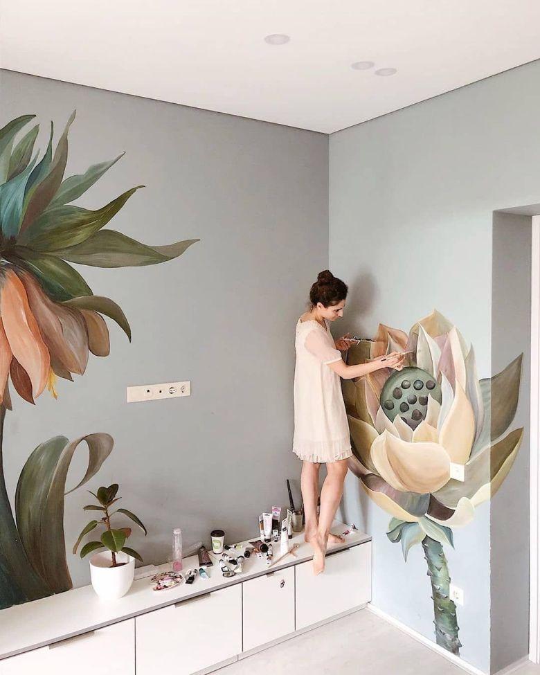 lukis-mural-model-floral