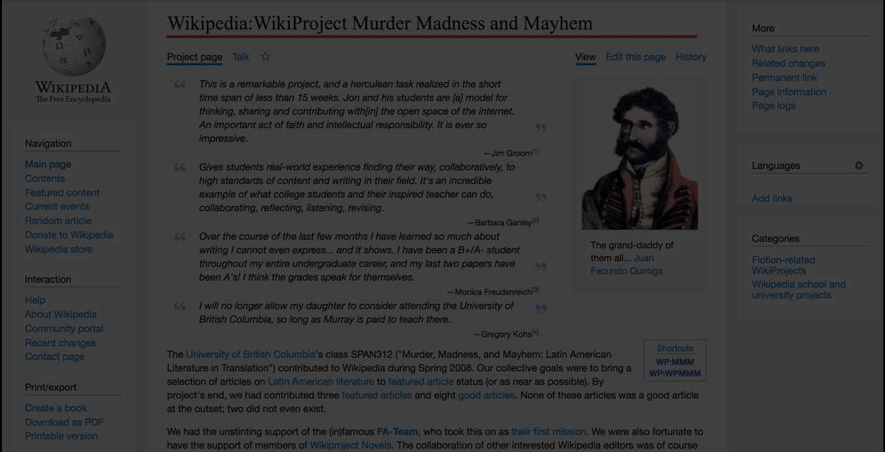 WikiProject Murder Madness and Mayhem