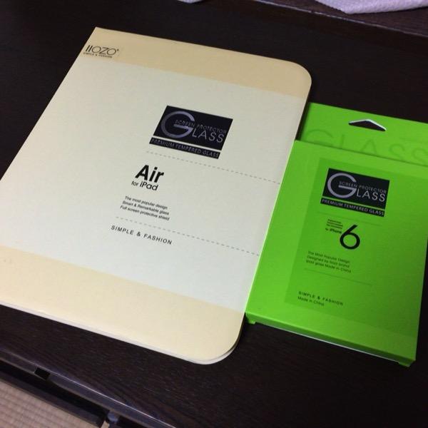iPhone6&iPadAir2をガラス保護フイルムで貼り付けてみた