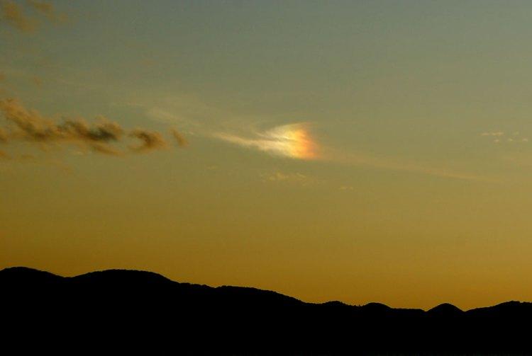太陽と同じ高度の太陽から離れた位置に光が見える大気光学現象のことだそうです。