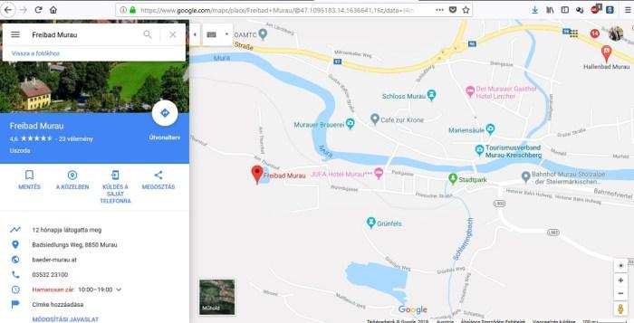 Murau strand térkép
