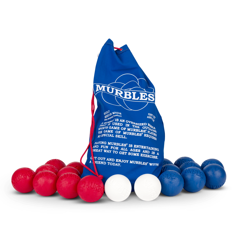 Murbles 8 Player 18 Ball Medium Activity Set Red and Blue Murbles