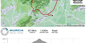Murcia Bike Hire – Sierra Espuña – Totana, Aledo, Collado Bermejo, Alhama de Murcia GPX Route