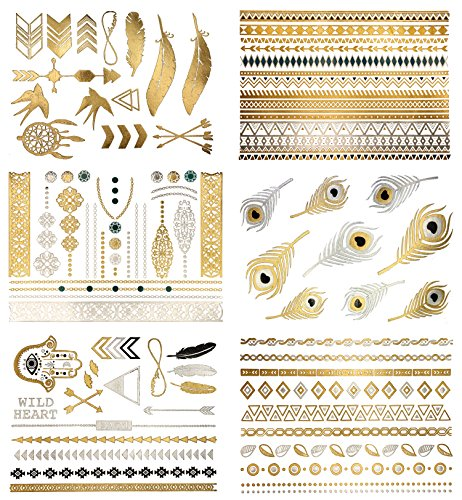 87a981c10 Premium Metallic Tattoos - 75+ Shimmer Designs in Gold, Silver ...