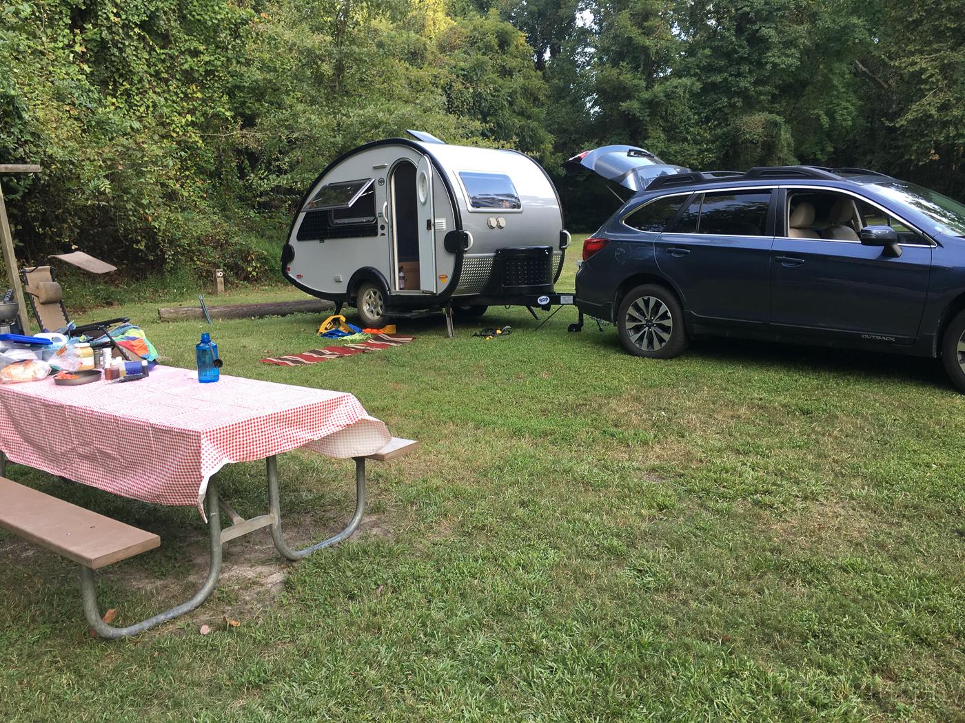 Campsite at Pettigrew State Park