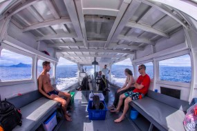 Inside the Murex Dive Boat